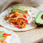 Blackened Shrimp Tacos with Sweet Pepper Slaw